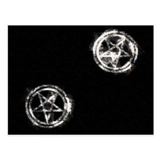 Diagonal Inverted Pentagrams Postcard