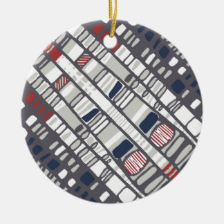 Diagonal layers red christmas ornament