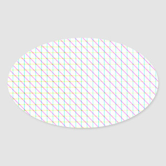 Diagonal Lines Oval Sticker