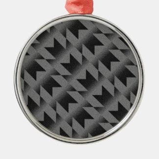 Diagonal M pattern Christmas Ornament