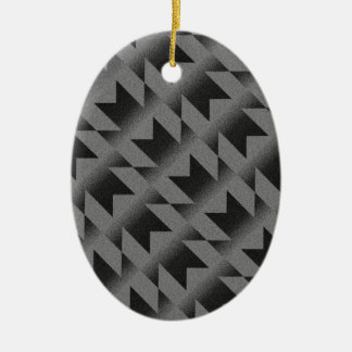 Diagonal M pattern Christmas Ornament