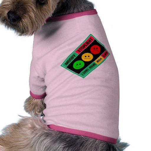 Diagonal Moody Stoplight Logo Doggie T Shirt