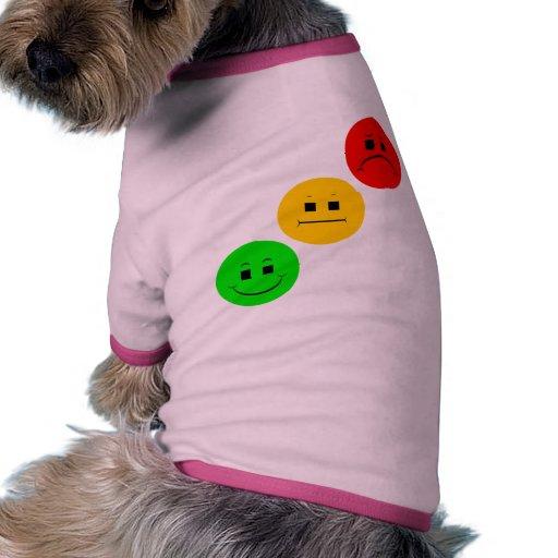 Diagonal Moody Stoplight Sans Stripe Doggie T Shirt