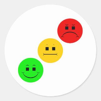 Diagonal Moody Stoplight Sans Stripe Round Sticker
