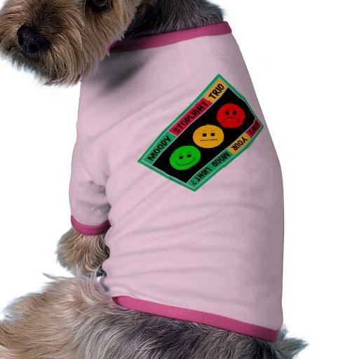 Diagonal Moody Stoplight Trio Logo Doggie Tshirt