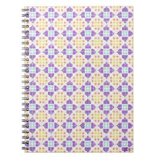 Diagonal Mosaic Tile Notebook