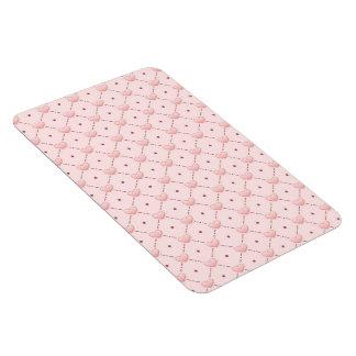 diagonal pattern pink candy hearts rectangular photo magnet