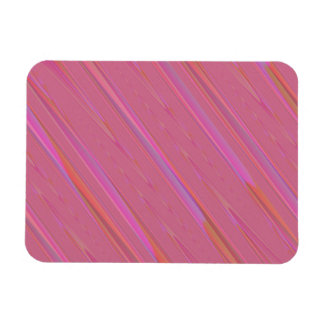 Diagonal Pink Abstract Pattern Rectangular Magnets