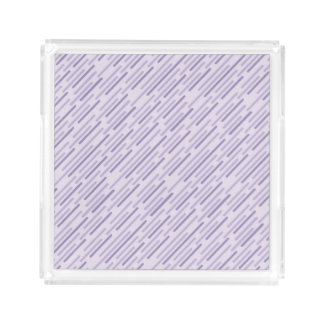 Diagonal purple stripes serving tray