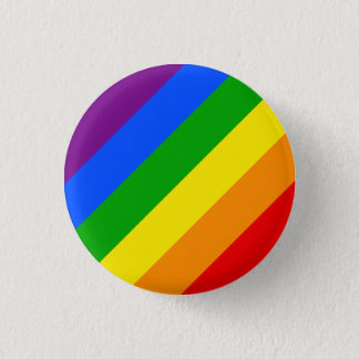 """DIAGONAL RAINBOW"" 1.25-inch 3 Cm Round Badge"