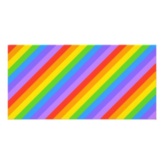 Diagonal Rainbow Stripes Pattern. Card