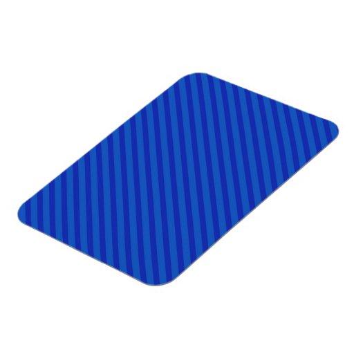 Diagonal royal blue Stripes Flexible Magnet
