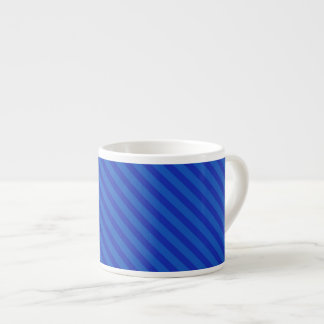 Diagonal royal blue Stripes Espresso Mug