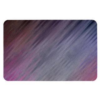 Diagonal Silvery Purple Abstract Pattern Rectangular Photo Magnet