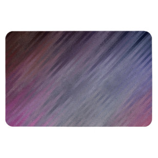 Diagonal Silvery Purple Abstract Pattern Rectangular Magnets