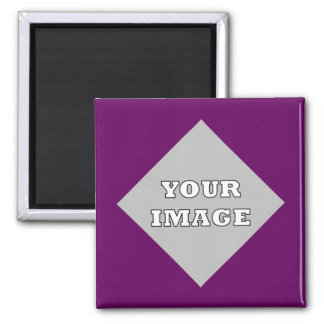 Diagonal Square Photo Frame Magnet