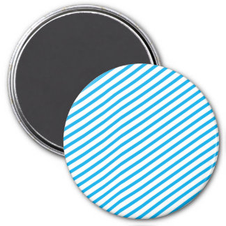 Diagonal Stripe Blue Pattern Fridge Magnet