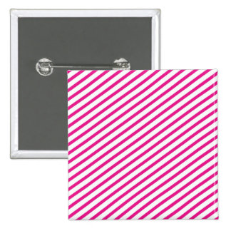 Diagonal Stripe Hot Pink Pattern 15 Cm Square Badge