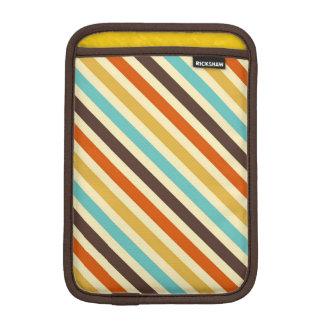 Diagonal Stripes 4 Retro Colors Blue Yellow Red iPad Mini Sleeve