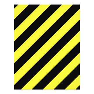 diagonal stripes black and yellow 21.5 cm x 28 cm flyer