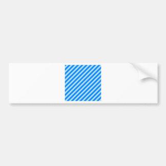 Diagonal Stripes - Blizzard Blue and Azure Bumper Sticker