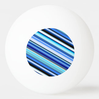 Diagonal Stripes in Blues and Teals Ping Pong Ball