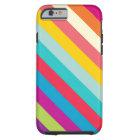 Diagonal Stripes In Summer Colours Tough iPhone 6 Case