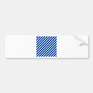 Diagonal Stripes - Pale Blue and Navy Blue Bumper Stickers