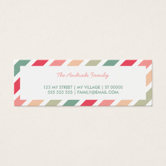 Diagonal Stripes Personalized Family Calling Cards