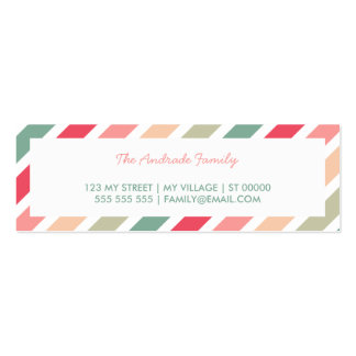 Diagonal Stripes Personalized Family Calling Cards Business Card Template