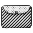 "Diagonal Stripes Polka Dots 15"" Laptop Sleeve 