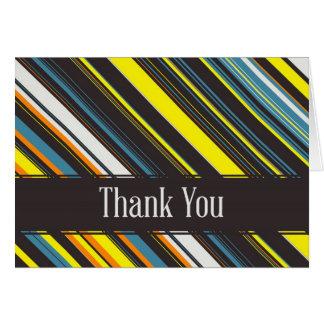Diagonal Stripes Thank You Card