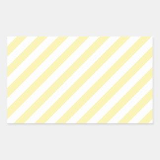 Diagonal Stripes-Yellow2-Light Yellow and Corn Rectangular Sticker