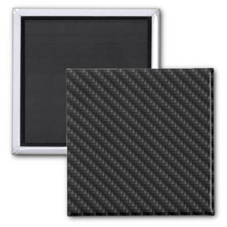 Diagonal Tightly Woven Carbon Fiber Texture Square Magnet