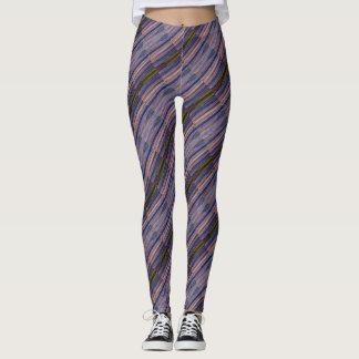 Diagonal Tiled Stripes Leggings