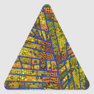 Diagonal Tiles Blue and Yellow Triangle Sticker