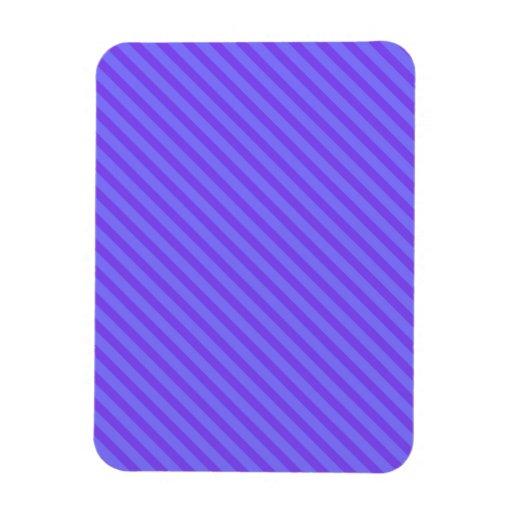 Diagonal Violet Purple Stripes Rectangular Magnet
