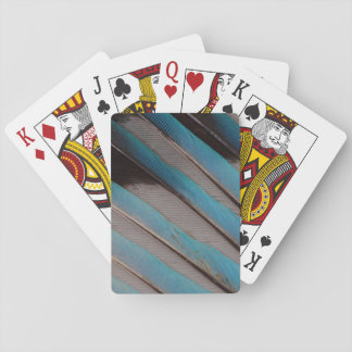 Diagonal Wing Feather Design Playing Cards