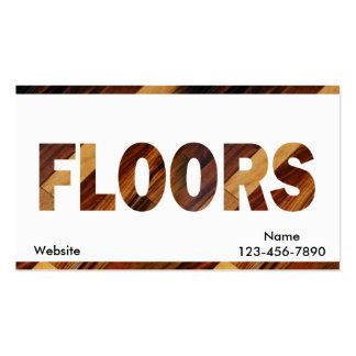 Diagonal Wood Flooring Business Card