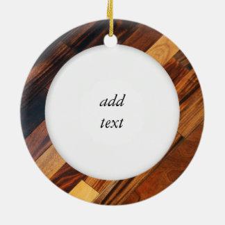 Diagonal Wood Flooring Image Christmas Ornament