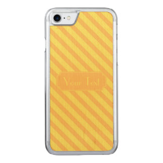 Diagonal yellow orange Stripes text Carved iPhone 8/7 Case
