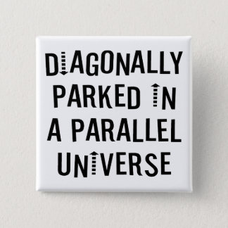 Diagonally Parked 15 Cm Square Badge