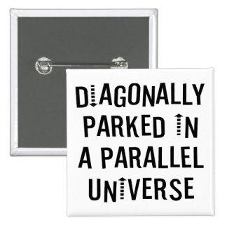 Diagonally Parked 15 Cm Square Badge
