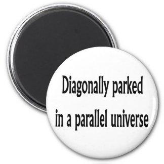 Diagonally Parked 6 Cm Round Magnet