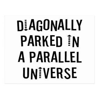 Diagonally Parked Postcard
