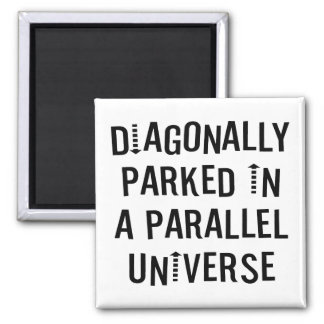 Diagonally Parked Square Magnet