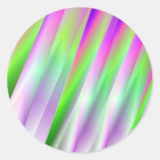 Diagonals Round Sticker