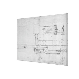 Diagram of a Mechanical Bolt Gallery Wrapped Canvas