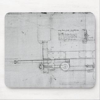 Diagram of a Mechanical Bolt Mouse Pad
