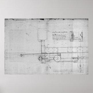 Diagram of a Mechanical Bolt Poster